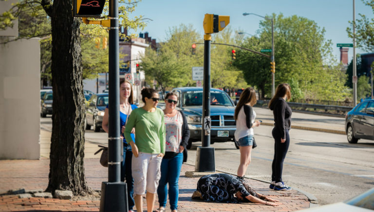 childs-pose-sidewalk