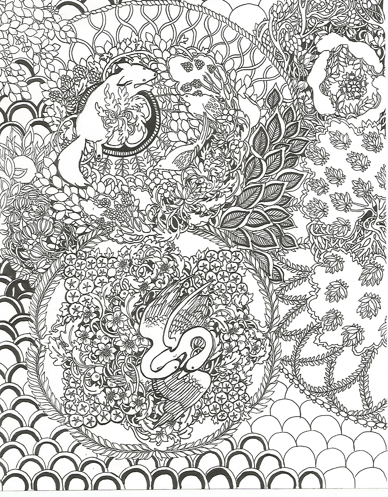 page 1 page2 page3 - Nature Coloring Book