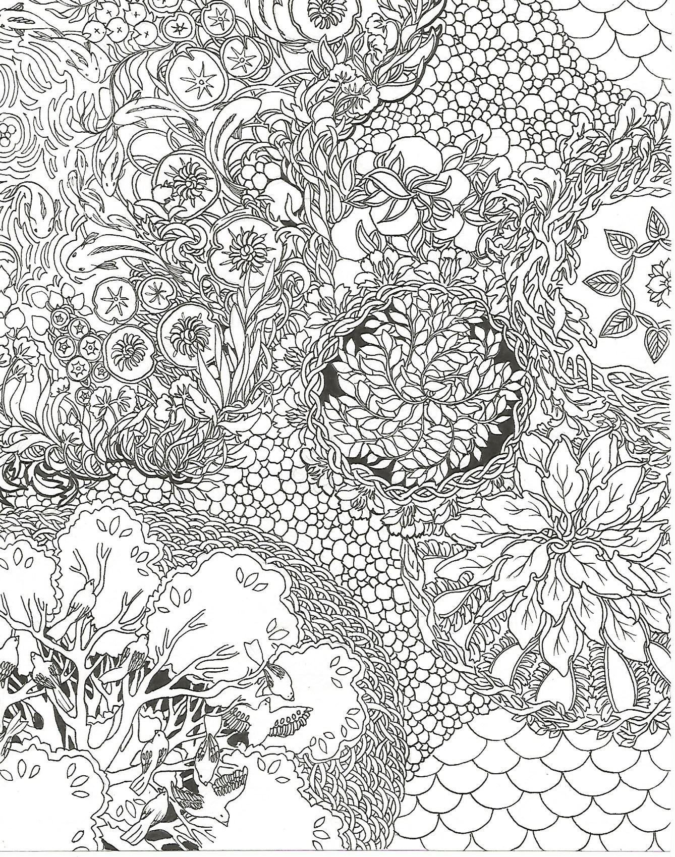 page 1 page2 page3 page4 - Nature Coloring Book